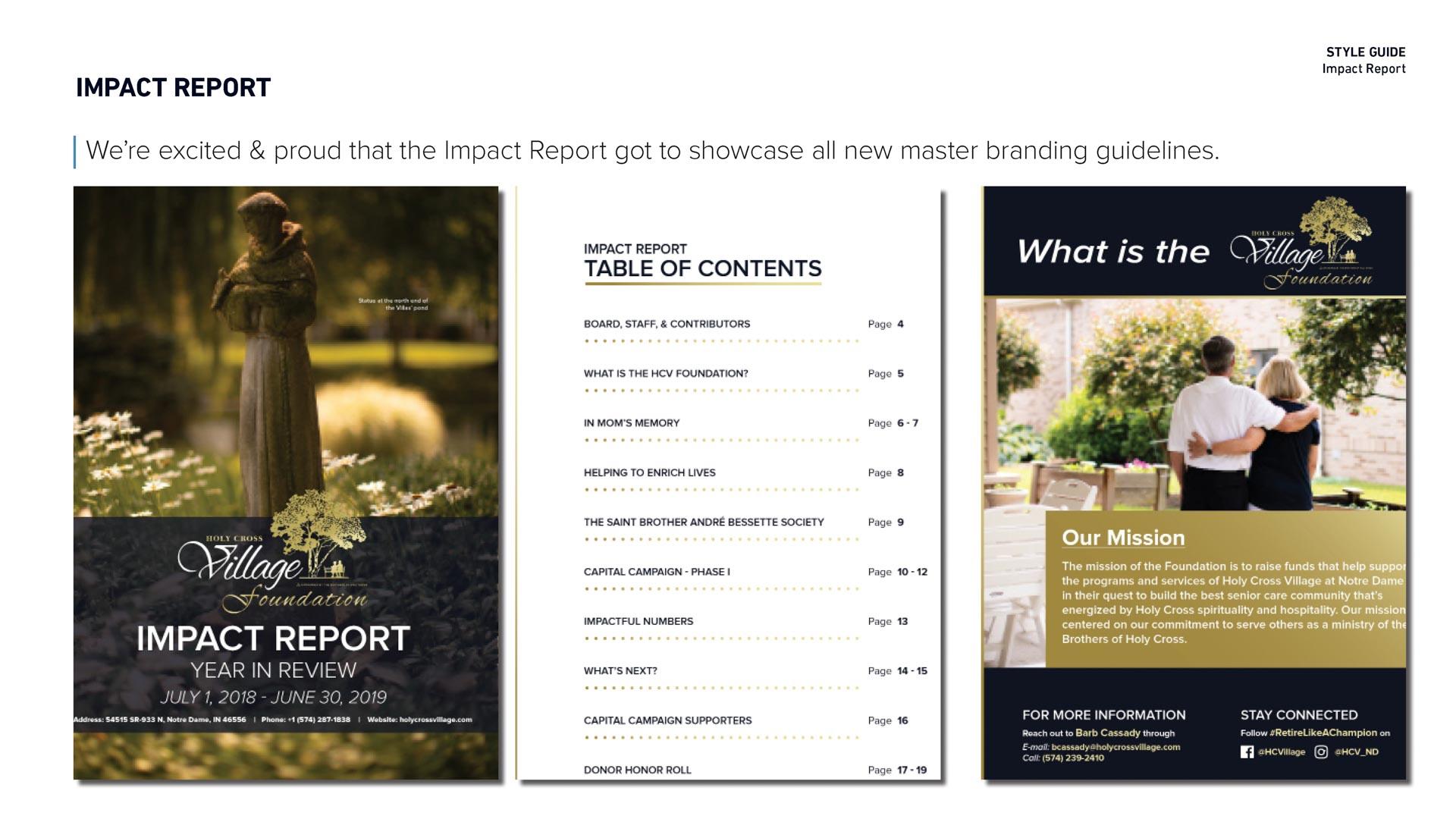 Holy Cross Village's Impact Report