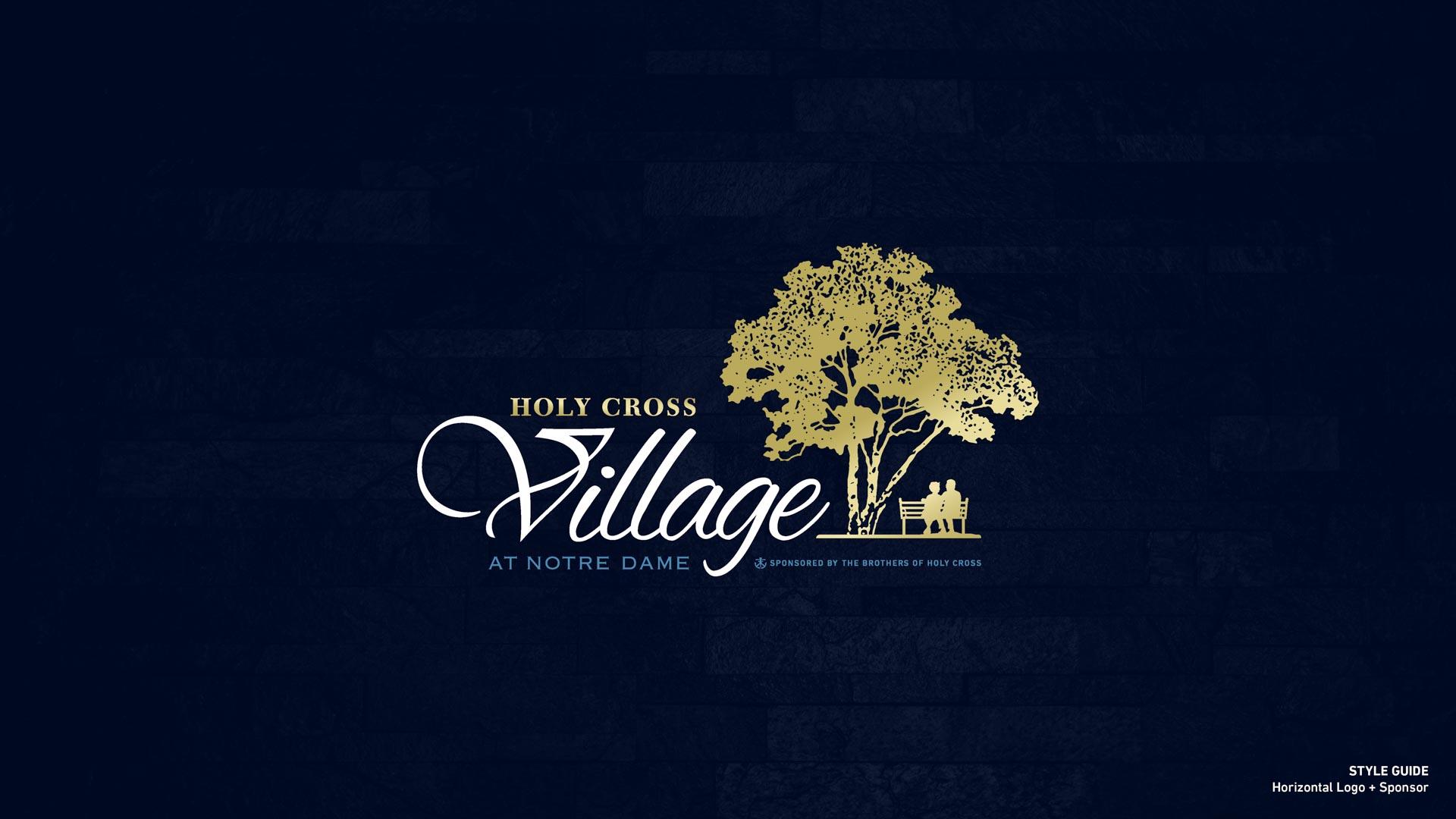 Holy Cross Village's Horizontal Logo + Sponsor