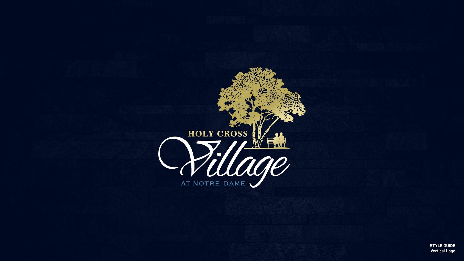 Holy Cross Village's Vertical Logo