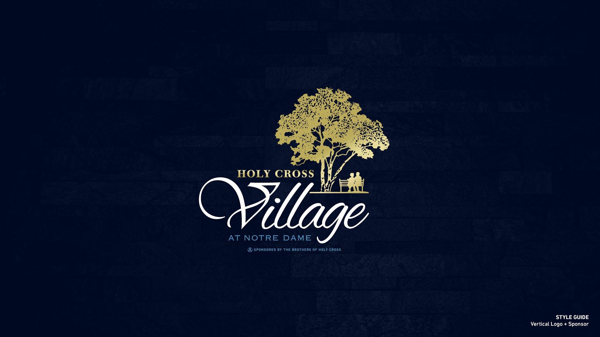 Holy Cross Village's Vertical Logo + Sponsor