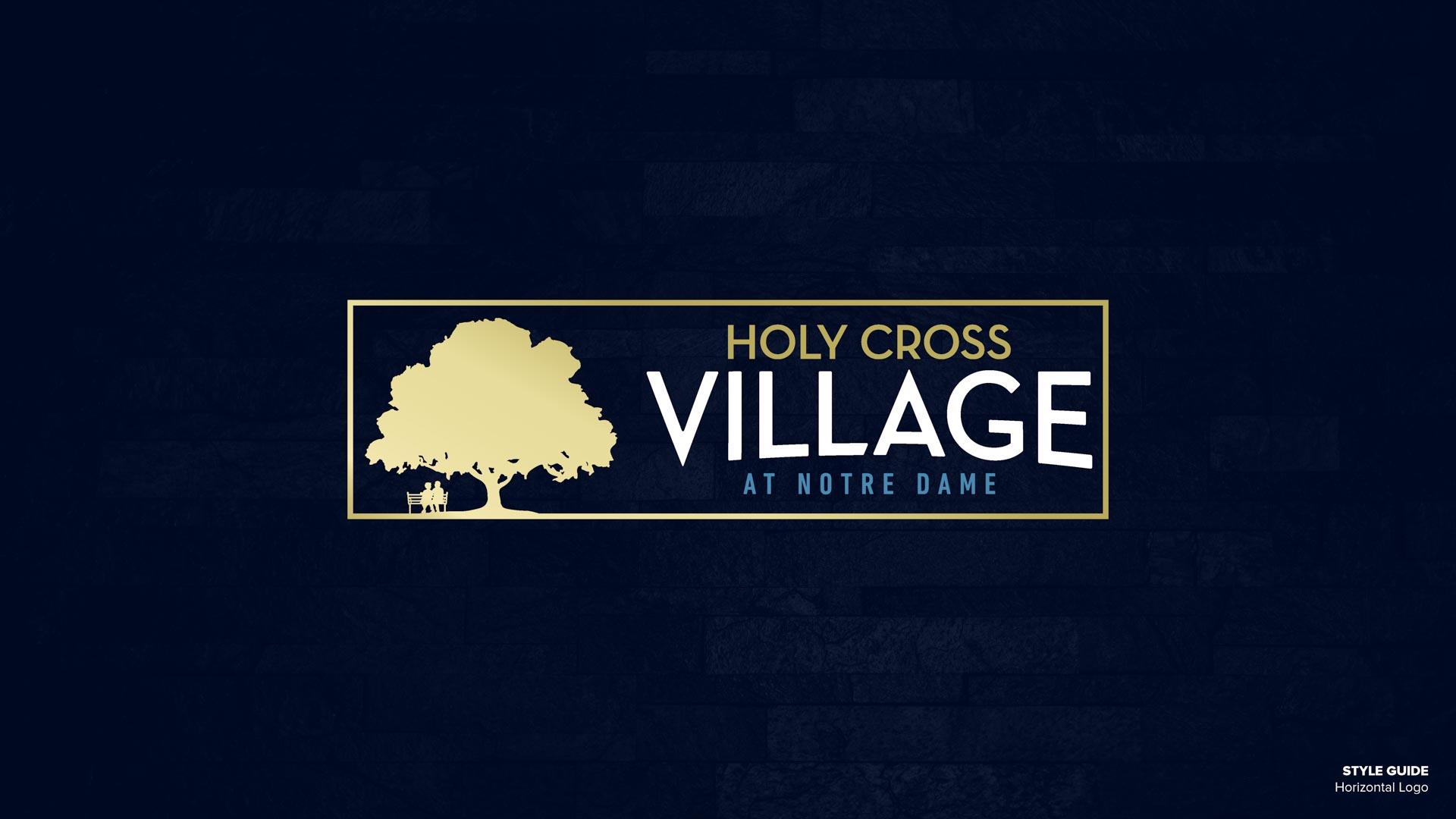 Holy Cross Village's Horizontal Logo (Unofficial)
