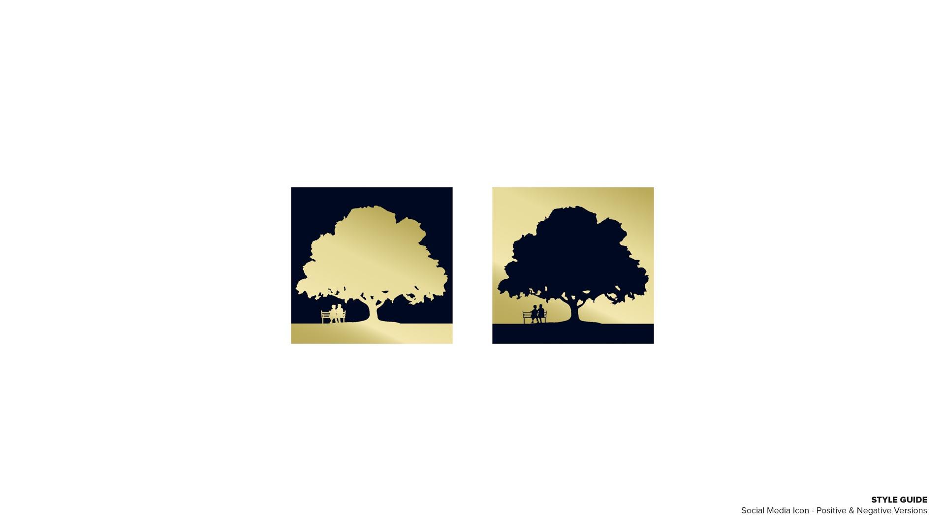 Holy Cross Village's Social Media Icon - Positive & Negative Versions