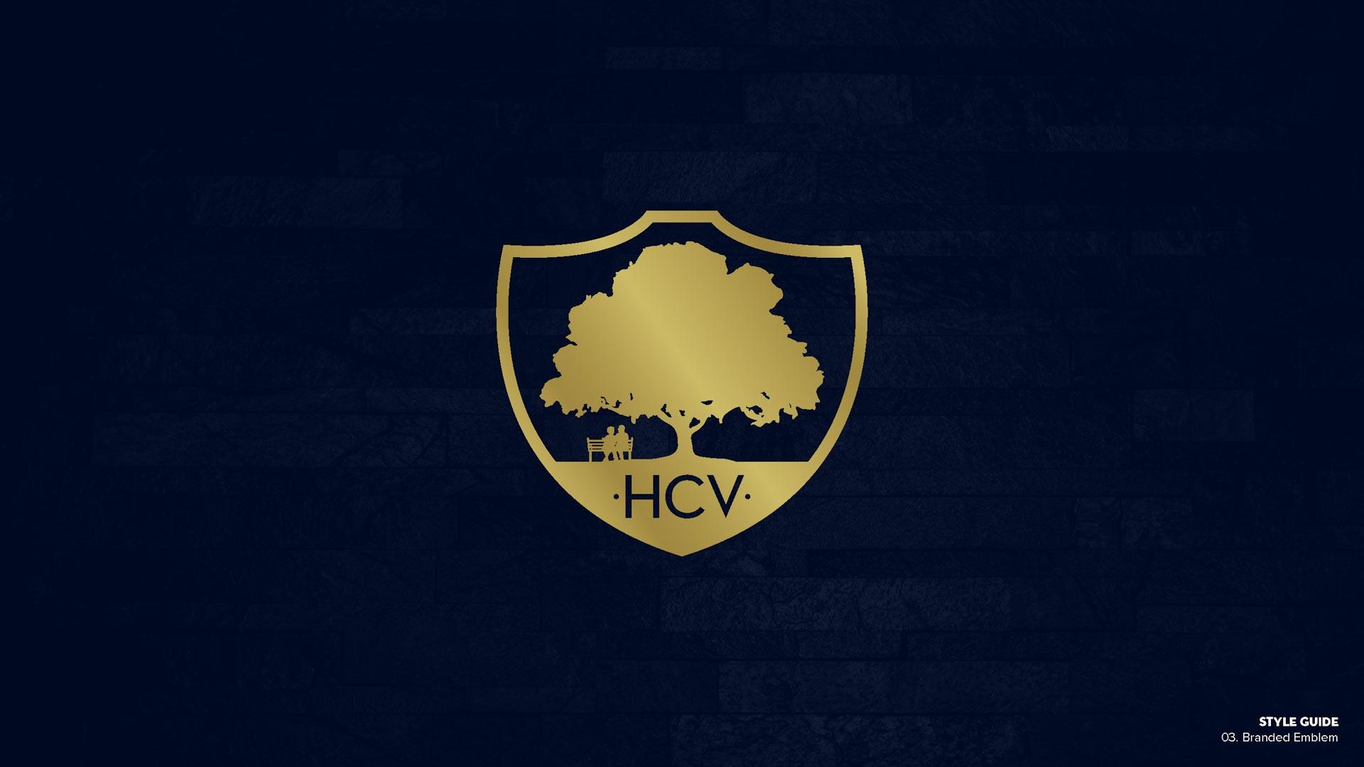 Holy Cross Village's Branded Emblem