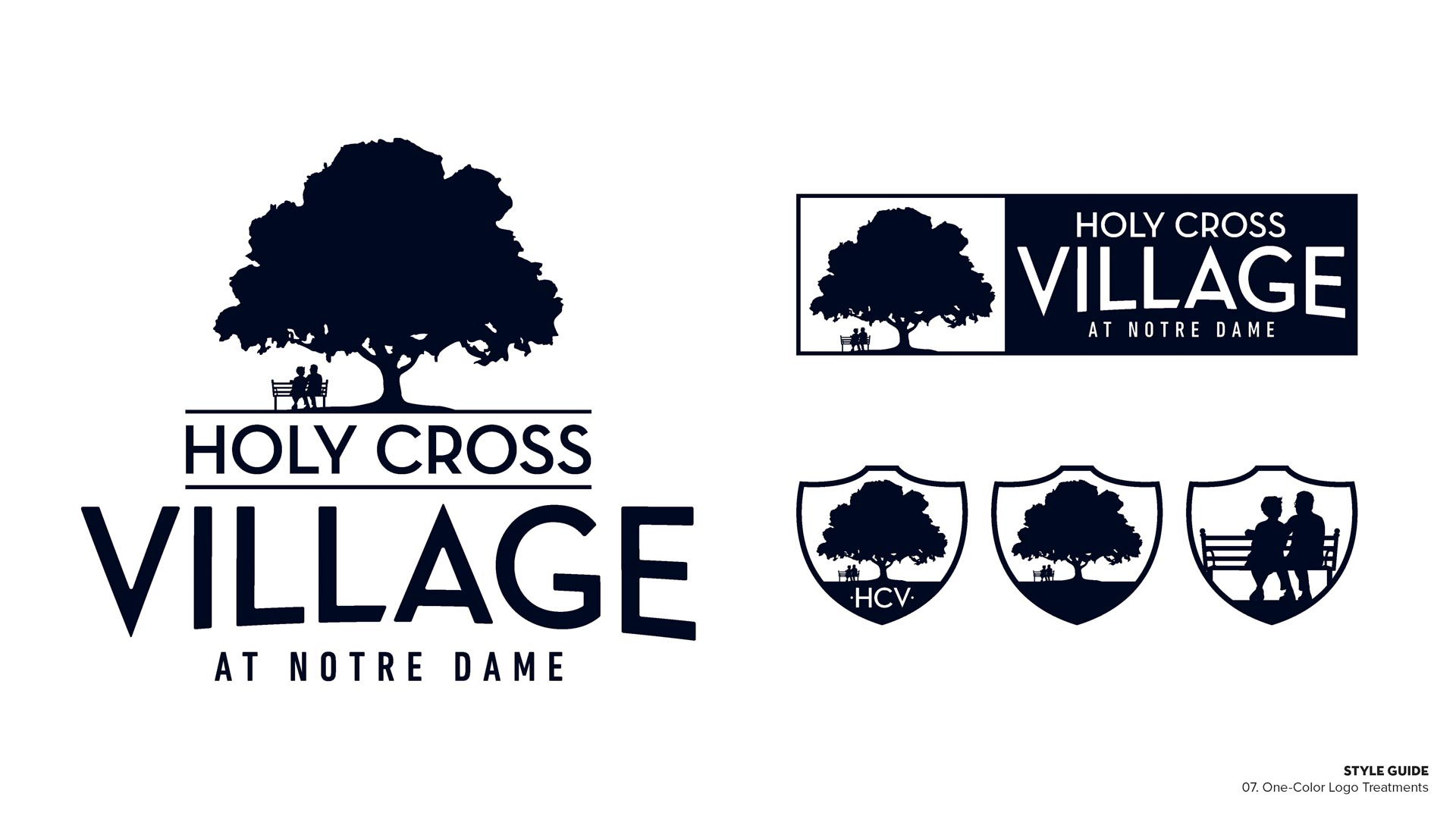 Holy Cross Village's One Color Logo Treatments